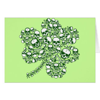 Crânes de shamrock carte de vœux