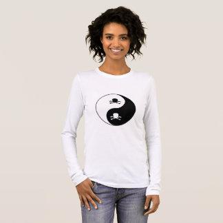 Crânes de Yin et de yang T-shirt À Manches Longues