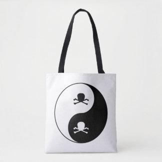 Crânes de Yin et de yang Tote Bag