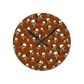 Crânes décoratifs vintages personnalisables pendules murales