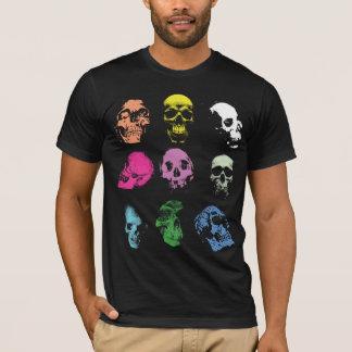Crânes déplaisants de Fluo T-shirt