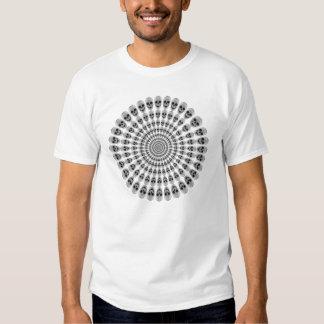 Crânes en cercles - blanc - T-shirt
