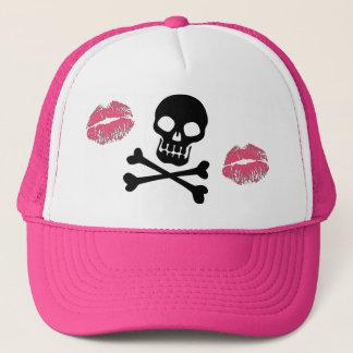 Crânes et baisers de rose casquette