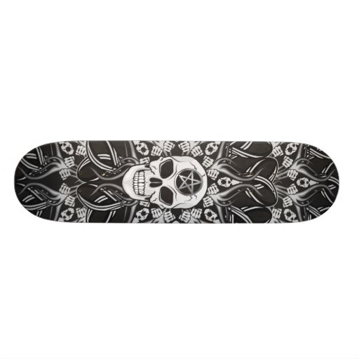 Crânes gothiques - noir skateboards
