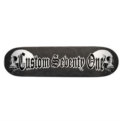Crânes gothiques skateboards customisés