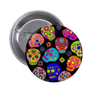 Crânes mexicains de sucre d'art populaire pin's avec agrafe