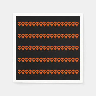 Crânes noirs oranges Halloween 4Marvin Serviette En Papier