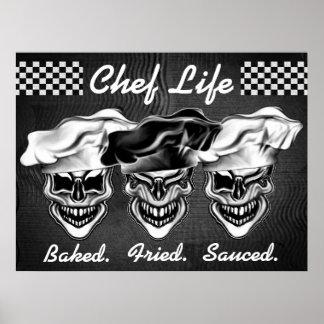 Crânes riants de chef poster
