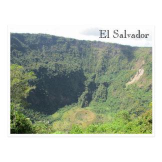 cratère de boquerón carte postale