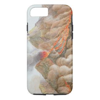 Cratère du mont Vésuve d'un dessin original Coque iPhone 7