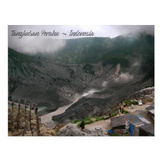 Cratère Indonésie de volcan Carte Postale