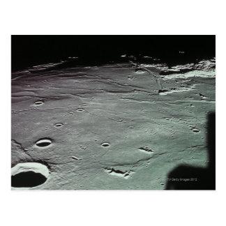 Cratères sur la lune carte postale