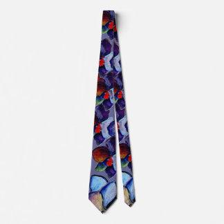 Cravate 2 d'orchidée bleue d'art