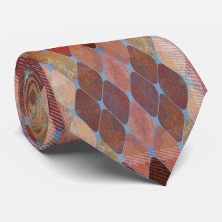 Cravate à motifs de losanges géométrique grunge de