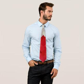 Cravate Abrégé sur rouge et blanc vacances de Père Noël