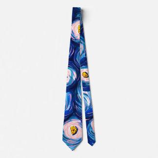 Cravate abstraite colorée lumineuse audacieuse