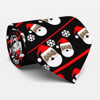 Cravate Afro-américain Père Noël
