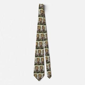 Cravate Ange victorien vintage, ravissement par Bouguereau