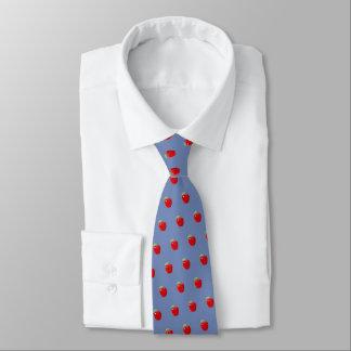 """Cravate """"Apple pour le professeur"""" (gris bleu)"""