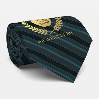 Cravate Ardoise faite sur commande Teal d'or de Faux de