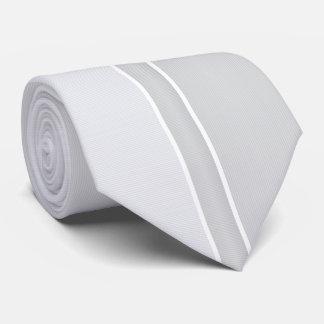 Cravate Argent/rayé gris