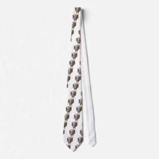 Cravate Art de coq de sépia