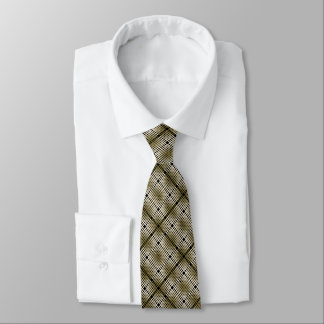 Cravate Art élégant de motif d'armure de panier d'or