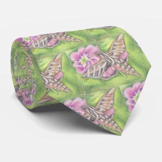 Cravate Art en pastel volant de fleur de mite de sphinx