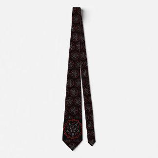 Cravate Art gothique de fractale d'étoile de Lucifers