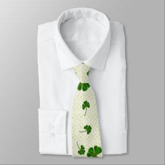 Cravate Art populaire lunatique de traînée de trèfle