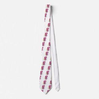 Cravate Aspiration d'éléphant rose - vecteur de coucher du