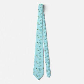 Cravate atomique bleue de Starbursts des oeufs de