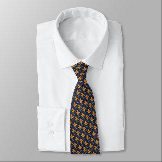 Cravate avec aquarelle de fleur
