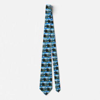 Cravate avec la photographie de paysage marin