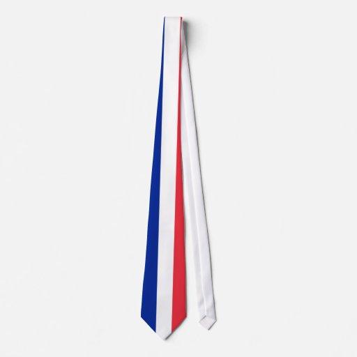 Cravate avec le drapeau de la France