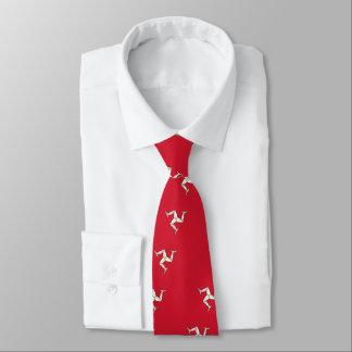 Cravate avec le drapeau d'île de Man, Royaume-Uni