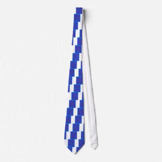 Cravate Aztèques d'éléments de conception bleus