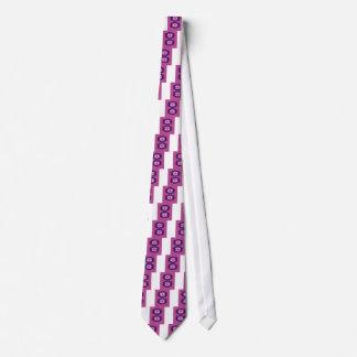 Cravate Aztèques roses exotiques d'éléments de conception