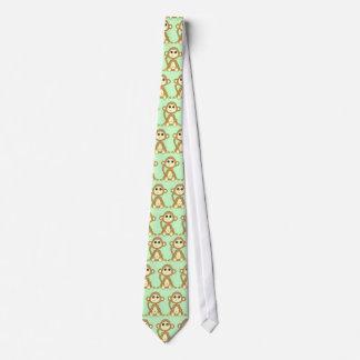 Cravate Bande dessinée mignonne de singe