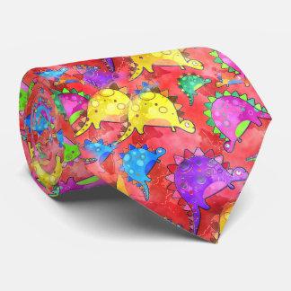 Cravate Bande dessinée pour aquarelle de dinosaure
