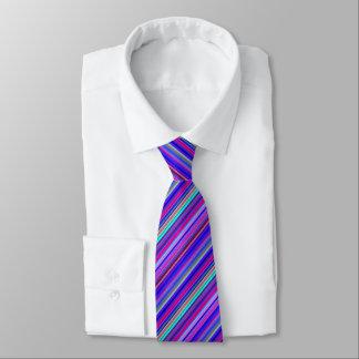 Cravate barrée par couleur multiple