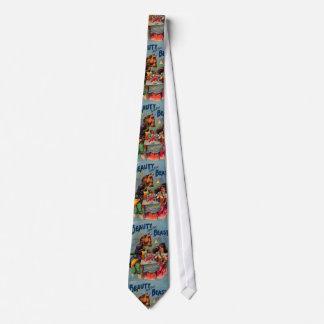 Cravate Beauté vintage et la bête