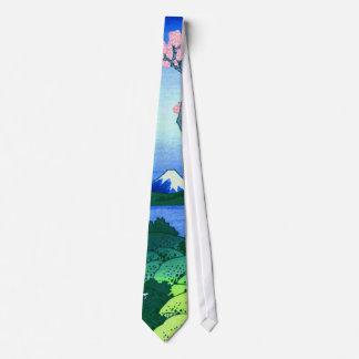 Cravate beaux-arts de fleurs de cerisier de Hokusai de