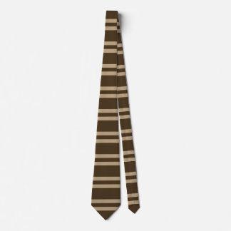 Cravate Beige horizontal de Brown de rayures d'art moderne