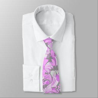 Cravate Bilatéral hawaïen floral de jungle de ketmie