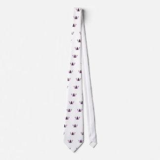 Cravate Blackwhite peint à la main de LOTUS