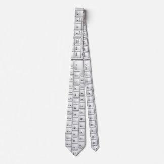 Cravate blanche de geek de clavier d'ordinateur