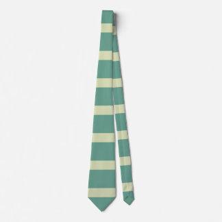 Cravate Blé horizontal de turquoise de rayures d'art