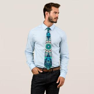Cravate bleu de mandala