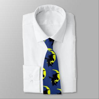 Cravate bleu-foncé de nouveauté de Halloween de